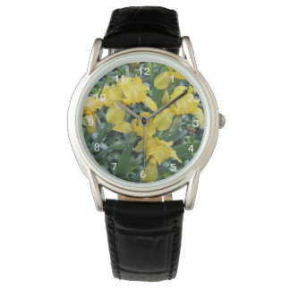 Söten gulnar Irisblommaklockan Armbandsur