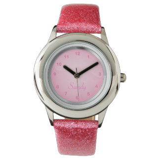 Söten i rosor personifierar klockan armbandsur