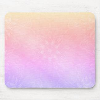 Söten kyler pastellfärgad regnbågeMandaladesign Musmatta