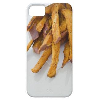 Sötpotatisen steker i papper hänger lös, tätt upp, iPhone 5 cover