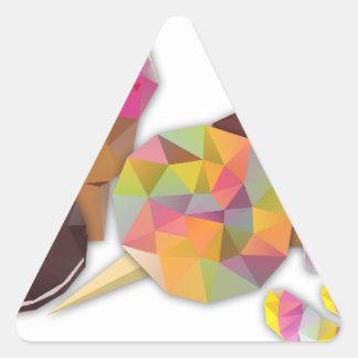 Sötsaker som göras av trianglar triangelformat klistermärke