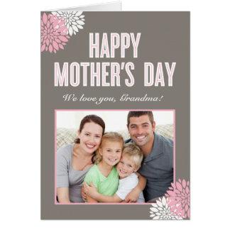 Sött blom- mors dagfotokort OBS kort