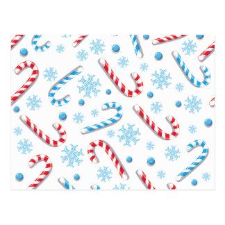 Sött mönster för Christmassy godispub Vykort