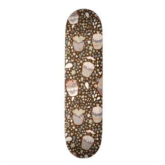 Sött mönster som göras av smaklig muffins skateboard bräda 20 cm