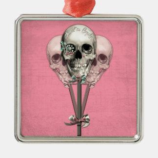 Sött som godisklubbadöskallar i pink. julgransprydnad metall