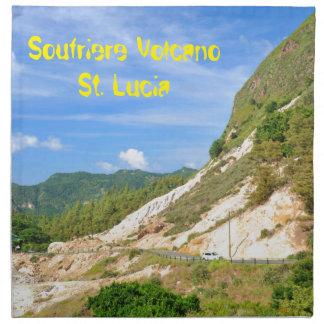 Soufriere vulkan i St Lucia Tygservett