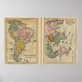 South America Atlantic Ocean Poster