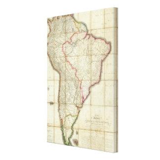 South America karta 2 Canvastryck