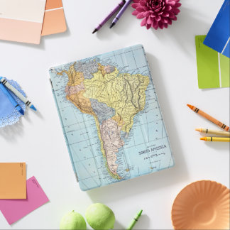 SOUTH AMERICA: KARTA c1890 iPad Skydd