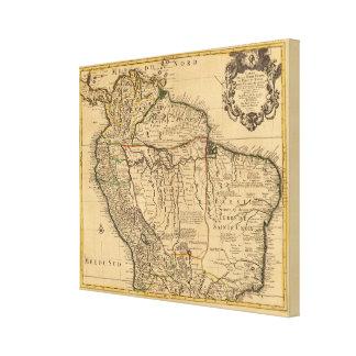 South America karta Canvastryck