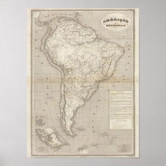 South America karta Poster