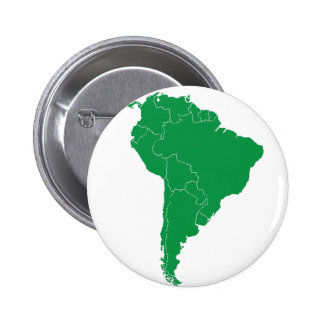 South America karta Standard Knapp Rund 5.7 Cm