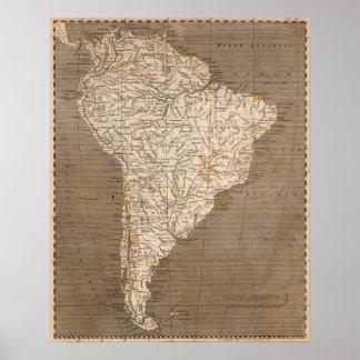 South America karta vid Arrowsmith Poster