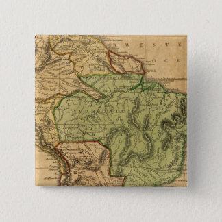 South America karta vid Worcester Standard Kanpp Fyrkantig 5.1 Cm
