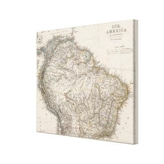 South America northerregion Canvastryck