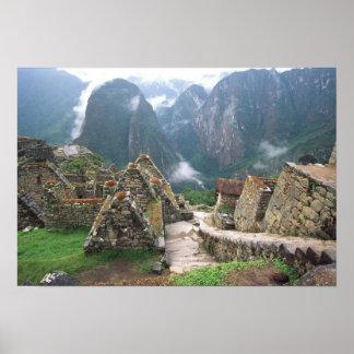 South America Peru, Machu Picchu Poster