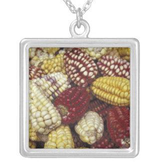 South America Peru maj, Maize Silverpläterat Halsband