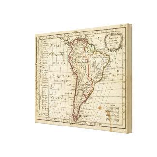 South America skolar Canvastryck