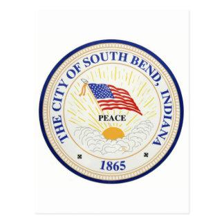 South Bend Indiana förseglar Vykort