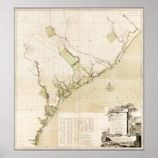 South Carolina 1757 och Georgia Poster