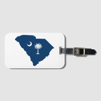 South Carolina i blått och vit Bagagebricka