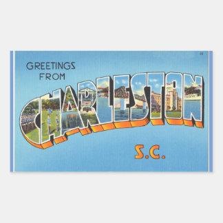 South Carolina lakan av 4 Charleston Rektangulärt Klistermärke