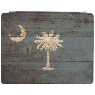 South Carolina statlig flagga på gammalt Wood korn iPad Skydd