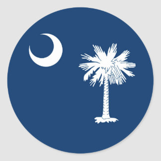 South Carolina statlig flaggadekor Runt Klistermärke