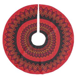 Southwestern röd sicksackmönsterjulgran julgransmatta borstad polyester