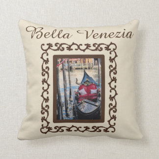 Souvenir för Bella Venezia gondolitalien Kudde