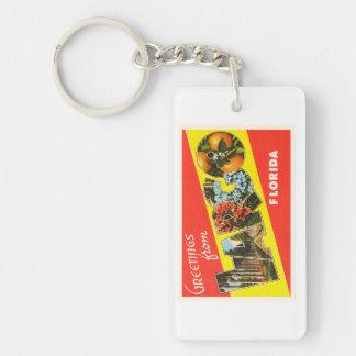Souvenir för LargoFlorida FL gammal vintage resor Rektangulärt Enkelsidig Nyckelring I Akryl