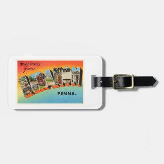 Souvenir för Libanon Pennsylvania PA-vintage resor Bagagebricka