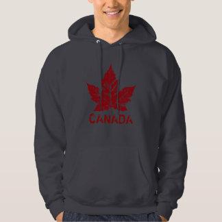Souvenir för lönnlöv för kall Kanada Hoodie Retro