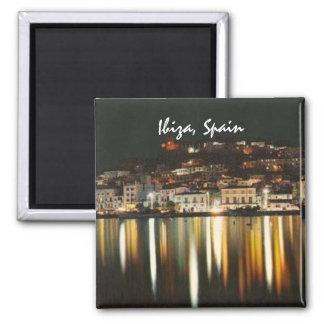 Souvenir för magnet för Ibiza Spanien nattkyl