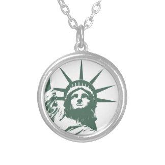 Souvenir för New York halsbandfrihetsgudinnan NYC Halsband Med Rund Hängsmycke