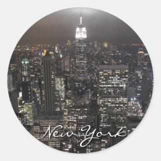 Souvenir för New York klistermärkeNew York Runt Klistermärke