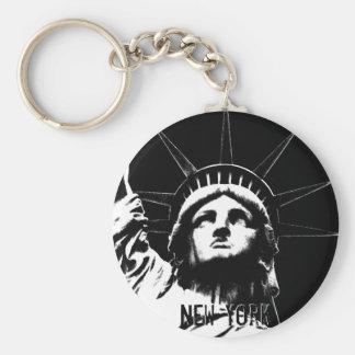 Souvenir för New York nyckelringfrihetsgudinnan Rund Nyckelring