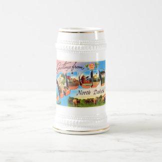 Souvenir för vintage resor för RugbyNorth Dakota Sejdel