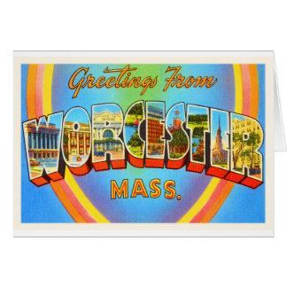 Souvenir för Worcester Massachusetts MORSAvintage Hälsningskort