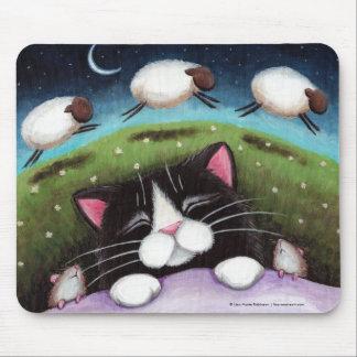 Sova att drömma för katt och för möss av får musmatta