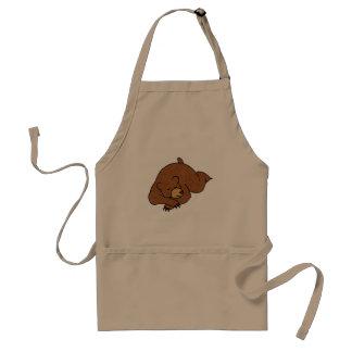 sova björntecknaden förkläde