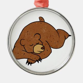sova björntecknaden julgransprydnad metall