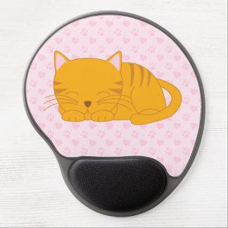 Sova den orange tabby katt gel musmatta