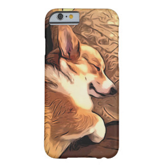 Sova den walesiska Corgihunden för Pembroke Barely There iPhone 6 Skal