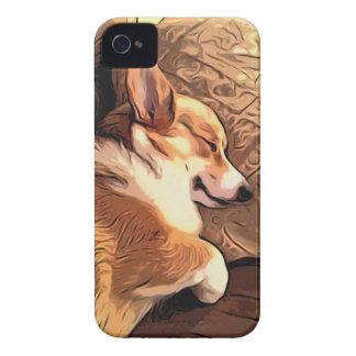 Sova den walesiska Corgihunden för Pembroke iPhone 4 Fodral
