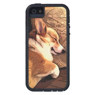 Sova den walesiska Corgihunden för Pembroke iPhone 5 Fodraler