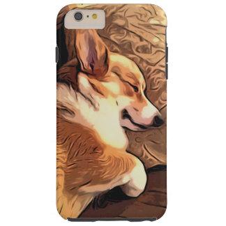 Sova den walesiska Corgihunden för Pembroke Tough iPhone 6 Plus Skal