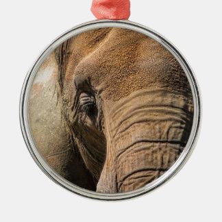 Sova elefantcloseupen julgransprydnad metall
