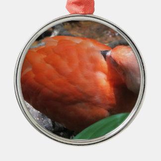Sova fågeln julgransprydnad metall