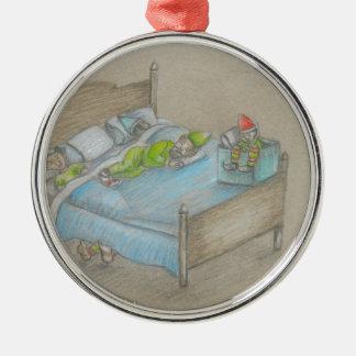 sova för älvor julgransprydnad metall